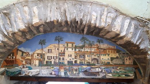 Arco dipinto SCORCI DI BORGO FOCE Valloria