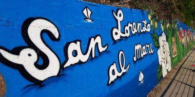"""Il murales """"La valle del San Lorenzo"""""""