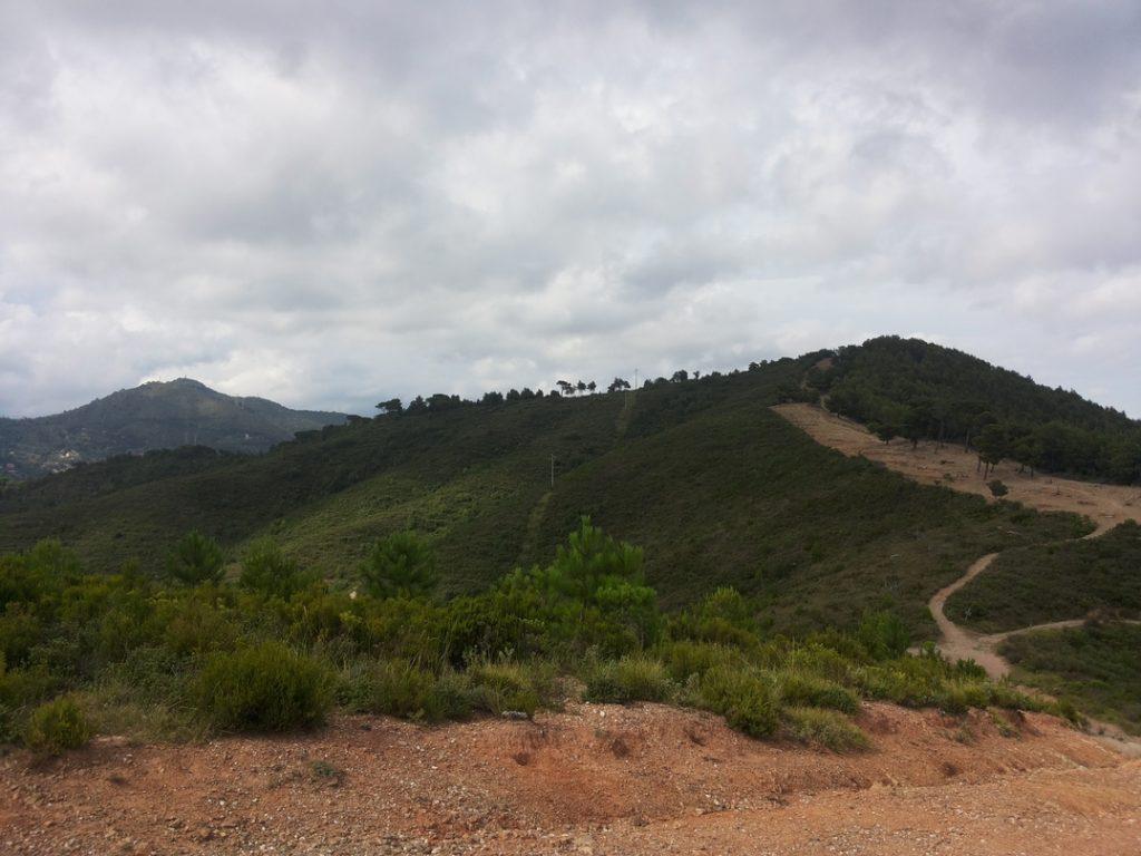 Vista da lontano di Poggio Brea
