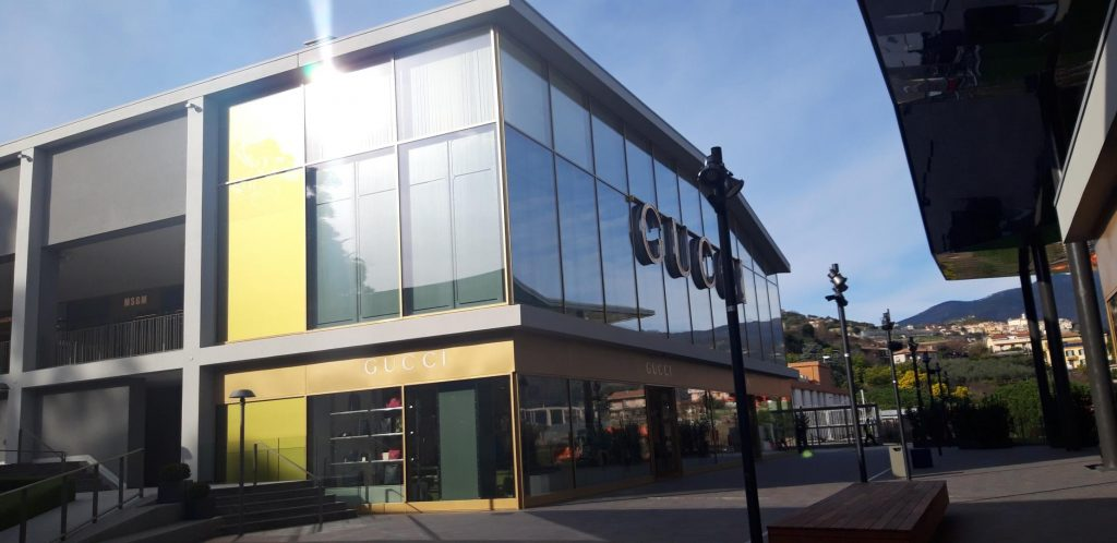 Il negozio di Gucci The Mall Sanremo