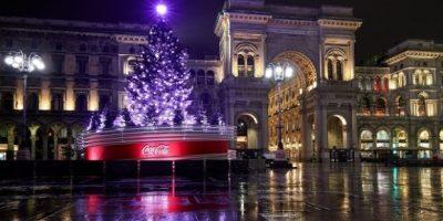 L'albero di Natale di Coca Cola in Duomo